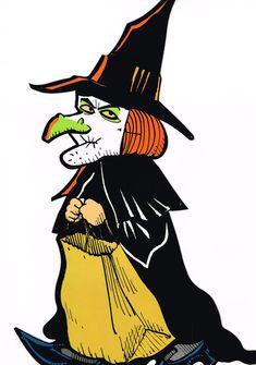 Halloween Stuff, Halloween Crafts, Halloween Ideas, Happy Halloween, I Got A Rock, Halloween Illustration, Vintage Halloween Decorations, Witch Art, Witches