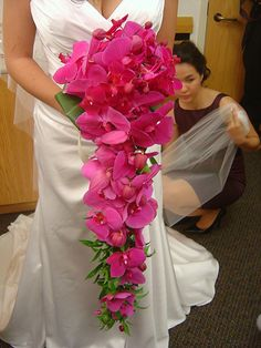 cascading wedding bouquets | Cascading Tropical Bridal Bouquet | Flickr - Photo Sharing!