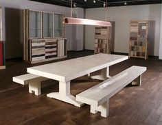 piet hein eek scrapwood table and benches