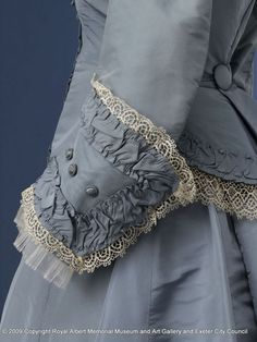 Wedding dress, English c1869 Fabulous cuffs ... I need to find the rest of this gown!
