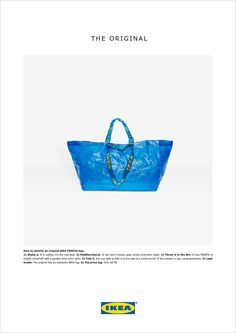 Here's What IKEA Thinks of Balenciaga's $2K FRAKTA Knockoff