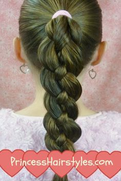Four Strand Braid from Princess Hairstyles
