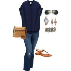 A fashion look from June 2015 featuring Old Navy jeans and Michael Kors watches. Browse and shop related looks.