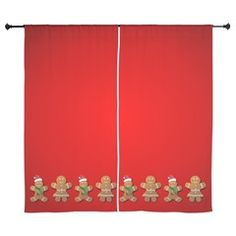Gingerbread Man Curtains> Gingerbread Fun> Xmas Spirit