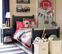 Boys sport themed bedroom