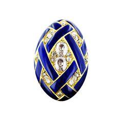 Victorian Cobalt Enamel Locket Ring
