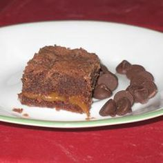 Chocolate Chocolate Chip Carmel Caramel Brownies