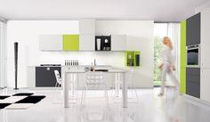 #Küche in Grün #Küchenzeile von ONEtouch www.dyk360-kuechen.de