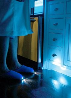 Night Light Slippers // 41 Coolest Night Lights To Buy Or DIY