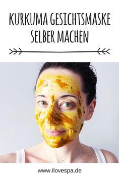 DIY Kurkuma Gesichtsmaske selber machen - ein einfaches Rezept für eine Kurkuma Maske aus nur 3 Zutaten