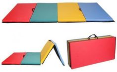 All-color-4-039-x8-039-x2-034-Thick-Folding-Panel-Gymnastics-Mat-Gym-Fitness-Exercise-Mat-R4