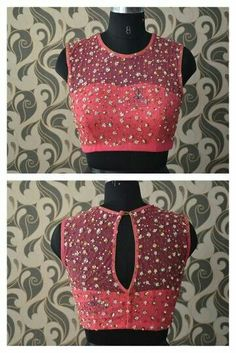 30 Pretty Sheer Back Neck Blouse Designs Saree Jacket Designs, Netted Blouse Designs, Saree Blouse Neck Designs, Choli Designs, Fancy Blouse Designs, Net Blouse Saree, Latest Blouse Designs, Indian Blouse Designs, Sheer Blouse