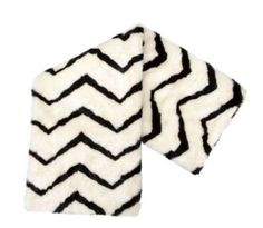Nate Berkus Zig Zag Faux Fur Throw null