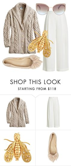 """""""Honey Bunny"""" by fashionforwarded ❤ liked on Polyvore featuring Diane Von Furstenberg, Chaumet, J.Crew and airportstyle"""