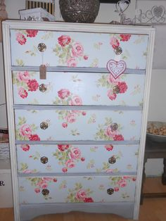 Chest of Draws painted in Annie Sloan and covered in Cath Kidston Paper
