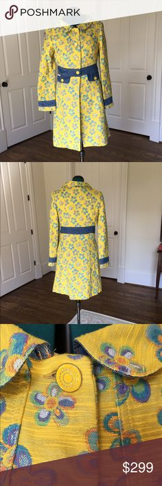 "Dolce & Gabbana coat Size M EUC Barely worn My hubbie splurged and bought me this coat in London as a gift. I wore it a couple times and hate to admit, but I needed a larger size. Kept it in my closet bc it's collectible and I was ever hopeful... but need to de-stash. Size M 38"" shoulder to hemline. 22.5"" waist to hem. I'm 5'7"" and it hits just above my knee Dolce & Gabbana Jackets & Coats"