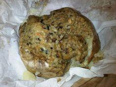 Veggie haggis topped baked potato from the Baked Potato Shop! :-)