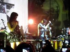 """Gotye & Kimbra performing Somebody That I Used to Know at the Crystal Ballroom 4-09-12. Wouter """"Wally"""" De Backer is such a hottie."""
