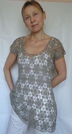 crocheted tunic by thirdk, via Flickr