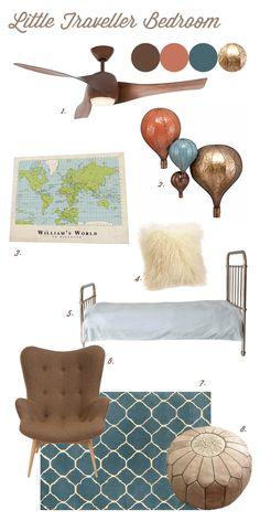 Little Traveller Bedroom for kids, decor, nursery, child's room