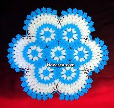 This Pin was discovered by Nur Baby Knitting Patterns, Knitting Stitches, Crochet Flowers, Crochet Lace, Crochet World, Doilies, Elsa, My Design, Doilies Crochet
