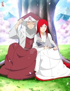 I commissioned the amazing to draw my oc himeko uzumaki with her husband tobirama senju and their son 'Tenma senju',Tenma has his mother's red uzumaki hair and his father's eye's. More tobihime art...