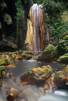 Diamond Falls on Saint Lucia