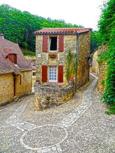 Stone cottage. This lovely tiny home is in Beynac, Dordogne, France.
