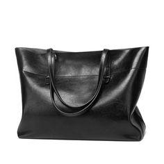 Women Vintage Tote Handbags Soft Leather Retro Large Capacity e9fee46ec3760