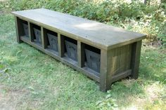 XX**Custom Reclaimed Rustic Black Entry Bench with Crates for Anna - Final 50%**XX