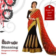 Buy Latest #Lehenga Style #Sarees, #Wedding Lehenga Saree With Affordable #Prices . For More details Call : 94073 83838