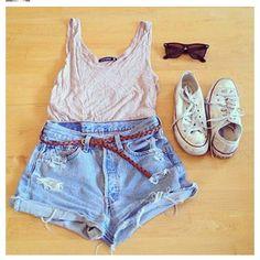 High waisted shorts:)