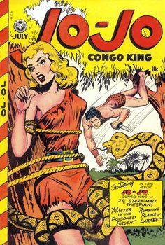Jo-Jo Comics 17 (Fox Feature Syndicate) - Comic Book Plus Comic Book Covers, Comic Books Art, Comic Art, Living In The Jungle, Caricature, Physical Comedy, Bd Comics, Horror Comics, Damsel In Distress