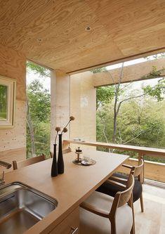 plywood interior -- +node by UID Architects & Associates Interior Architecture, Interior And Exterior, Plywood Interior, Japanese House, Minimalist Home, Interior Inspiration, Blog Inspiration, Home And Living, Kitchen Design