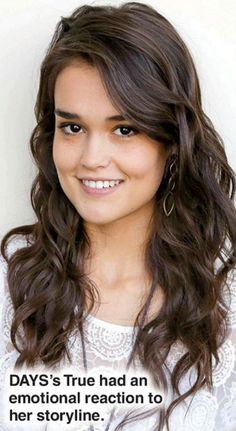 True O'Brien played Paige Larson on Days of Our Lives from March 3, 2014 - 2015 Hard to believe Eve raised this sweet young lady!!