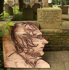 For this residency at the Bronte Parsonage museum in Haworth, Yorkshire, I replicated a self portrait of Branwell Bronte using the chainsaw as the drawing tool and scorching the cut marks. Bronte Parsonage, Bronte Sisters, Siblings, Yorkshire, 19th Century, Drawings, Tes, Sketches, Drawing