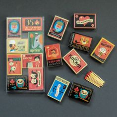 Set Of Eight Boxes Of Matches