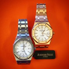 Audemars Piguet Stainless Steel & Rose Gold  Royal Oak Silver Dial B&P 15400OR.OO.1220OR.02