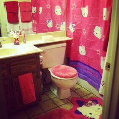 kendalls new hello kitty bathroom :)