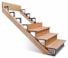 Building Deck Stairs Without Stringers - Building stairs - Outdoor Stairs, Deck Stairs, Wooden Stairs, Escalier Art, Escalier Design, Deck Building Plans, Building Stairs, Stairs Without Stringers, Deck Stair Stringer