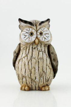 Stone Pottery Owl