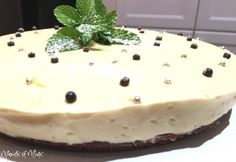 Mint Slice Cheesecake - Real Recipes from Mums Mint Slice, After Dinner Mints, Tasty, Yummy Food, Melting Chocolate, Family Meals, Food Videos, A Food, Food Processor Recipes