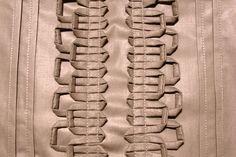 Folded Trim Technique on Grey Cotton