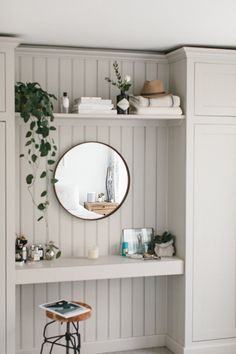 Built In Wardrobes And Dressing Table With Wall Panels - How To Add Character To A Characterless Space {Add In Wall Panelling}  Image By Adam Crohill