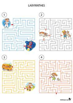 Preschool Writing, Preschool Learning Activities, Fun Activities For Kids, Teaching Kids, Kindergarten Goals, Kindergarten Math Worksheets, Visual Perception Activities, Mazes For Kids, Educational Games For Kids