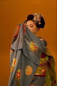 'Maiko dance by Sam Ryan Kyoto, Japanese Beauty, Japanese Geisha, Japanese Style, Japon Tokyo, Memoirs Of A Geisha, Japanese Outfits, Japanese Fabric, Maneki Neko