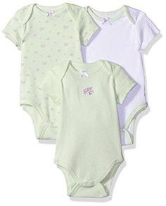 b69a882d6409d Amazon.com  Little Me Baby-Girls Newborn Rose 3 Pack Bodysuit