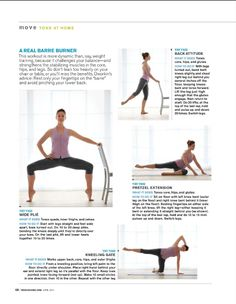 Barre workout Thin Thighs, Barre Workout, Qigong, Health Magazine, Tai Chi, Kickboxing, Body Weight, Pilates, Nike Air Max