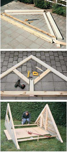 costruire una casetta di legno