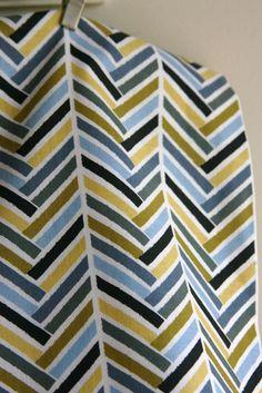 Broken Herringbone in Blue from Michael Miller Fabrics -  ONE FAT QUARTER. $2.25, via Etsy.